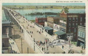 FORT SMITH, Arkansas, 1936 ; New Free Bridge
