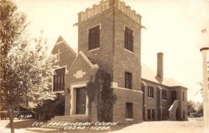 Cozad Nebraska~First Presbyterian Church~1940s Real Photo Postcard~RPPC