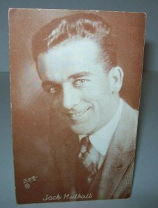 Jack Mulhall Postcard Unused Vintage American Actor Silent Films Arcade Card