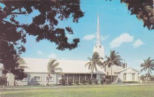 The Church-By-The-Sea (Community), Palm Trees, Bal Harbour, Miami Beach, Flor...