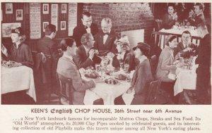 NEW YORK CITY, 1947 ; King's English Chop House