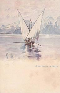 Sailboat, Barque Du Leman, Switzerland, 1900-1910s