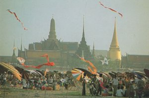 Sanam Luang Thailand Flying A Kite Competition Postcard