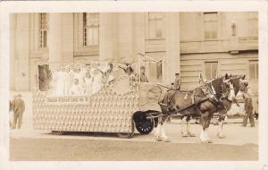 RP; Parade, WINNIPEG, Manitoba, Canada, 1931; Horse-drawn float, Miriam Rebekah