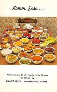 Pennsylvania Dutch Family Style Dinner Recipe Unused