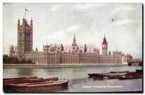 Postcard Old London Houses Of Parliament