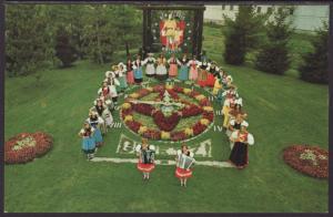 Floral Clock,New Glarus,WI Postcard