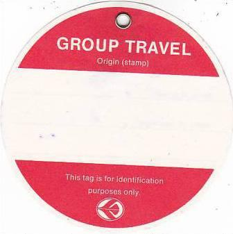 AIR ALGERIA GROUP TRAVEL AVIATION BAGGAGE TAG