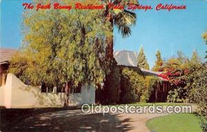 Palm Springs, CA, USA Jack Benny Residence