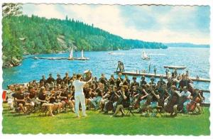 Senior Symphony Orchestra Playing on Waterfront, Manitou-Wabing Camp of Fine ...