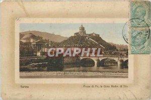 Old Postcard Torino Ponte di Po the Gran Madre di Dio