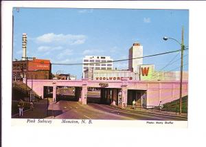 Pink Subway, Moncton, New Brunswick, Woolworth's, duMaurier etc. Signs, Photo...
