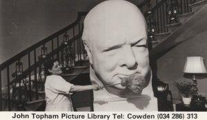 Winston Churchill Statue Topham Yorkshire Military Postcard