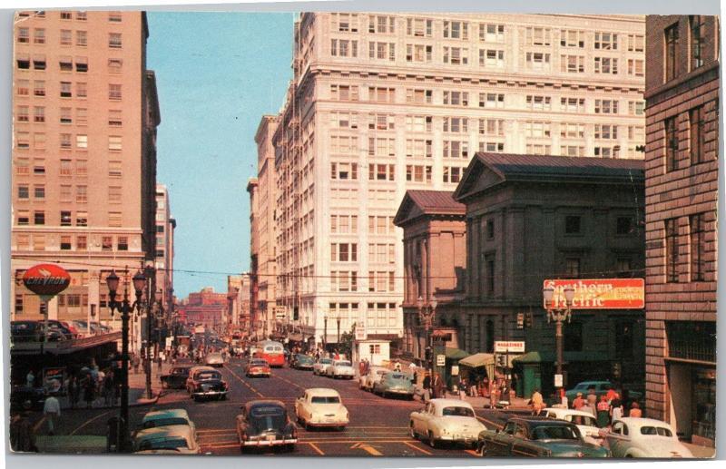Portland Oregon, Street Scene - 1950s