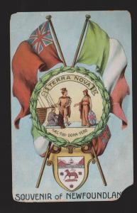 NEWFOUNDLAND - Patriotic Emblem - 1910s - Used - Damaged - Very Scarce