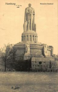 Hamburg Bismarck Denkmal Monument Statue Postcard