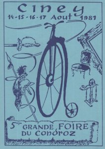 Ciney French Bicycle Cycling Race 1981 Championship Postcard