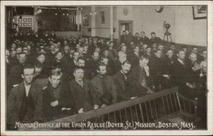 Boston MA Union Rescue Mission Dover St. c1910 Postcard