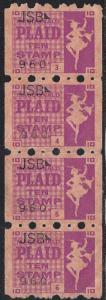 Plaid Ten Stamp - Strip of Four