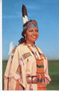 'Indian Maid' Pretty Indigenous Woman First Nations Peoples Vintage Postcard D23