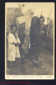 RPPC SUDAN PORT SUDAN AFRICA NATIVE PEOPLE VINTAGE REAL PHOTO POSTCARD
