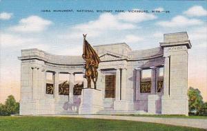 Mississippi Vicksburg Iowa Monument National Military Park