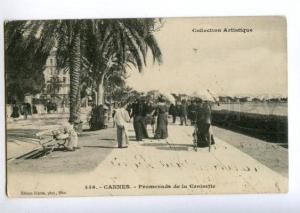 155700 FRANCE CANNES Vintage RPPC from RUSSIA STRELNA