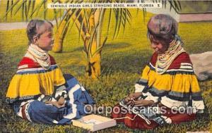 Seminole Indians Postcard Miami, FL, USA Seminole Indian Girls