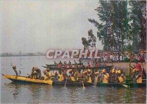 Postcard Modern Madagascar canoes race on the East Coast