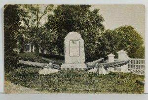 Newark Delaware Cooch's Bridge Monument Early udb Postcard O8