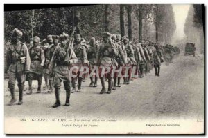 Old Postcard Militaria Our brave allies in France