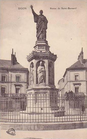 Statue De Saint-Bernard, Dijon (Côte-d'Or), France, 1900-1910s