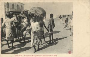 CPA Djibouti Afrique - Scéne d'un Mariage Somalis (87020)