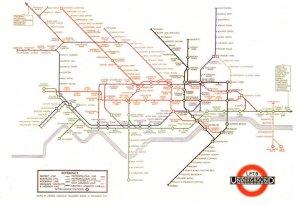 1930 London Tube Train Harry Beck Underground Map Museum Postcard