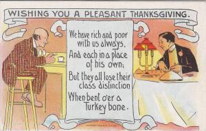 Wishing you a pleasant Thanksgiving, Poem about what a poor and rich man have...