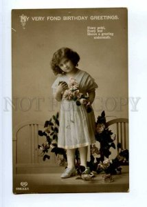 244249 BIRTHDAY Girl in Flowers FASHION Mode Vintage PHOTO PC