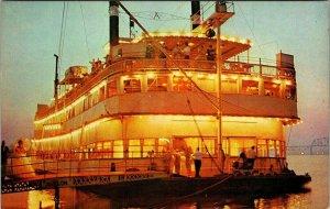 OHIO RIVER, Ky ~ Paddlewheel Boat Avalon Excursion River Tour Paddle Postcard