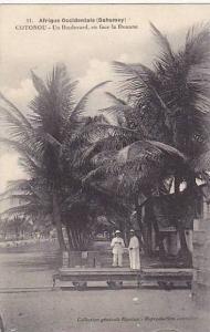 Un Boulevard, En Face La Douane, Cotonou, Dahomey, Africa, 1900-1910s