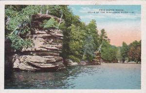 Wisconsin Wisconsin River Twin Sister Rocks Dells Of the Wisconsin River