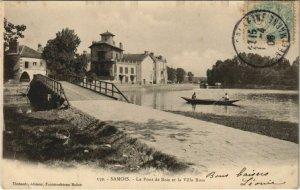 CPA Samois Le Pont de Bois et la Villa Rose FRANCE (1101225)