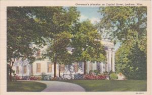Mississippi Jackson Governor's Mansion On Capitol Street Curteich