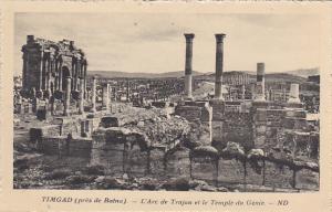 Algeria Timgad pres de Batna L'Arc de Trajan et le Temple du Genie