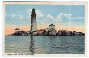 Boston Harbor, Mass, Graves Light