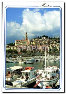 Postcard Moderne Menton L & # 39ancien port and basically the old town