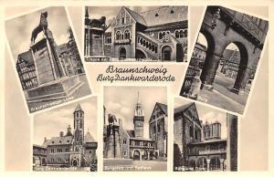 Braunschweig Burg Dankwarderode Burg Dankwarderode Burgplatz und Rathaus
