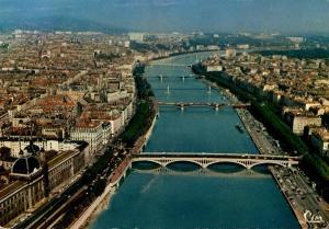 France Lyon Vue aerienne 1971