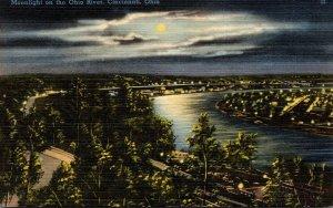 Ohio Cincinnati Moonlight On The Ohio River
