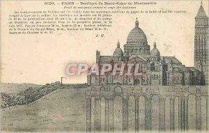 Postcard Old Paris Basilique du Sacre Coeur in Montmartre