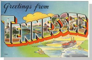 Tennessee/TN/Tenn Postcard, Greetings/Steamboat, Near Mint!