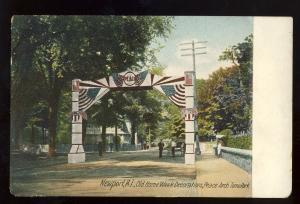 Newport, Rhode Island/RI Postcard, Peace Arch, Tomo Park